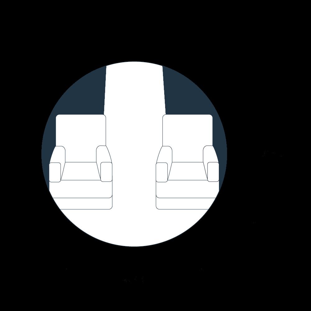 Kabinenmaße eines Gulfstream G150 Jets